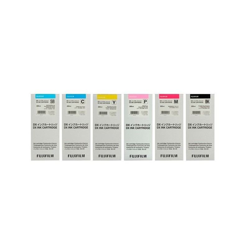 Cartucho tinta de 200 ml (negro, amarillo, magenta, cyan, azul cielo y rosa)