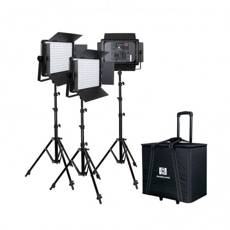 KIT 3 PANEL NANGUANG LED CN-1200CSA BICOLOR CON ALETAS